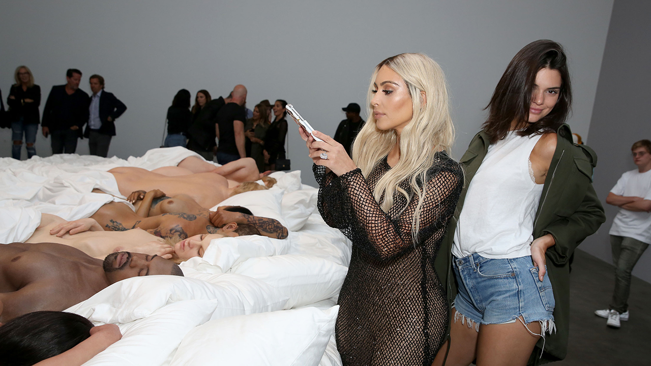 Kanye West Holds An Exhibit Of The Bed And Wax Figures -4525