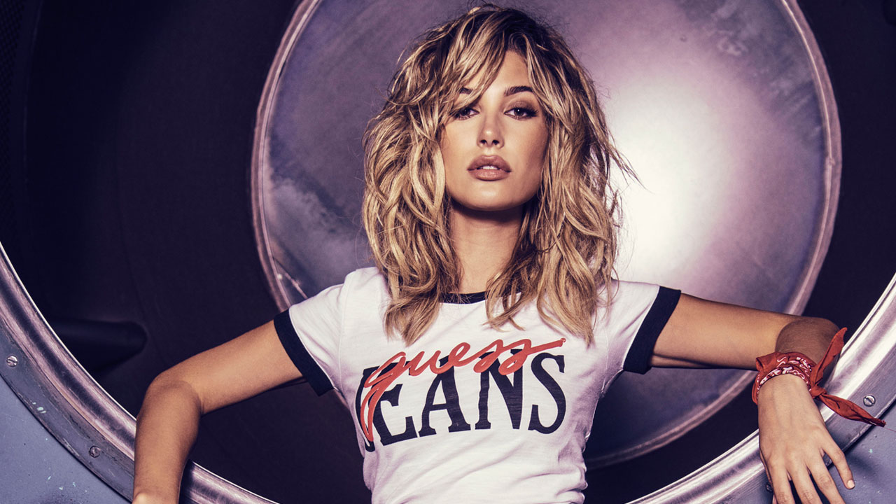 Hayley Baldwin sizzles in newest GUESS jeans campaign ...