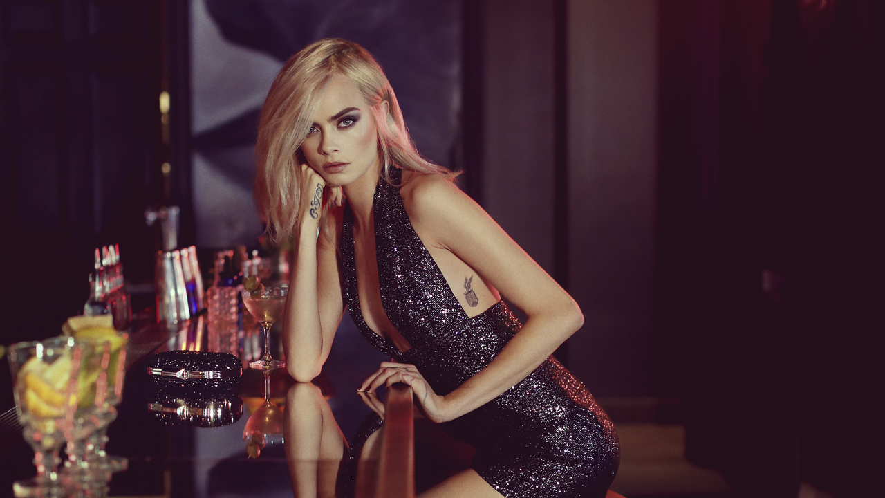 9f433cc887a7 Cara Delevingne stars in new glam party-vibe Jimmy Choo campaign film