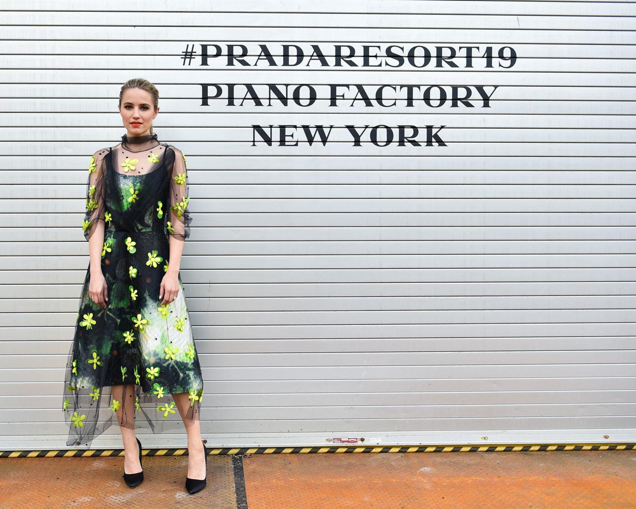 A-list red carpet arrivals at the Prada Resort 2019 show