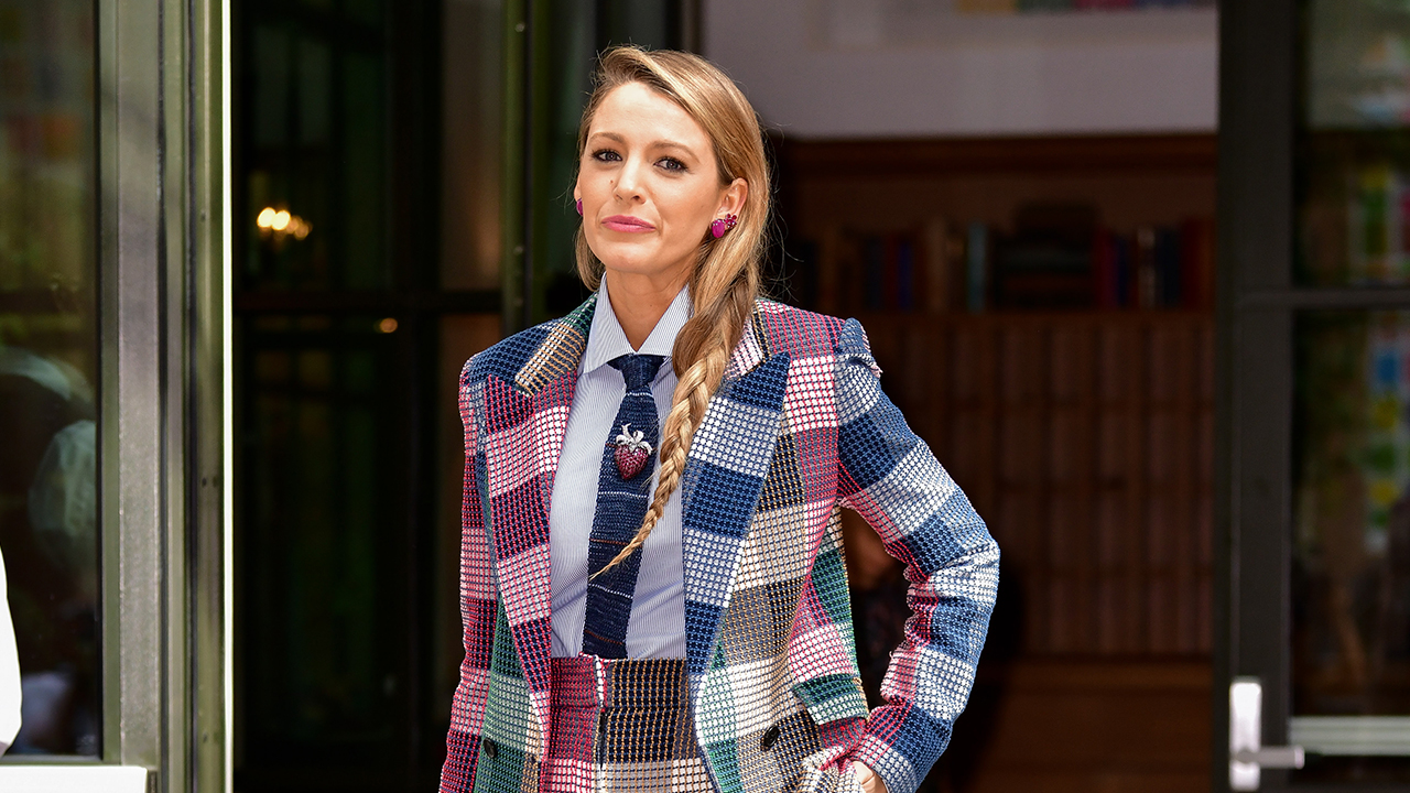 Blake Lively turns on the style for TV chat show appearance in New York