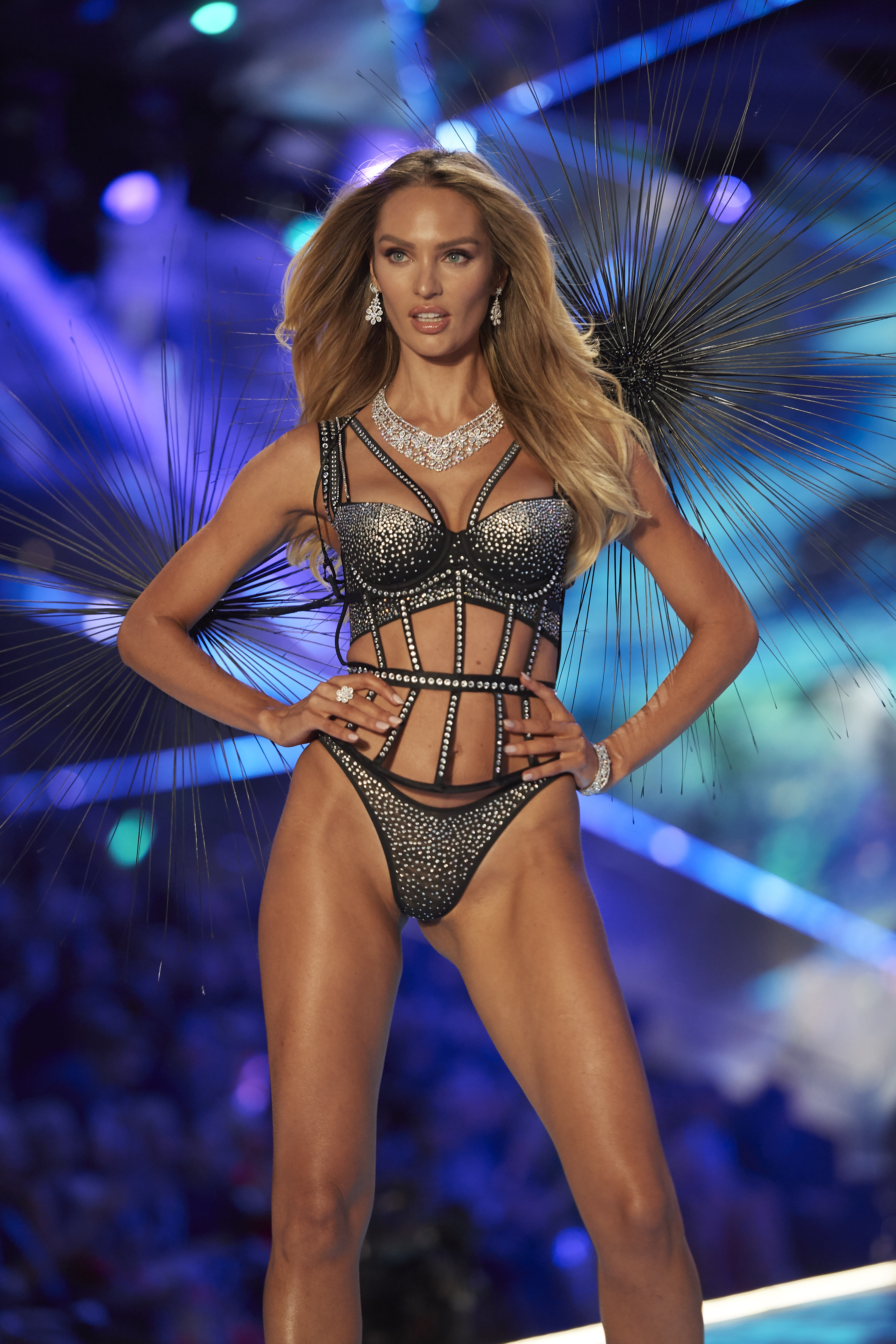 eb23f06f2 Candice Swanepoel walks the runway during the 2018 Victoria s Secret  Fashion Show at Pier 94 on November 8