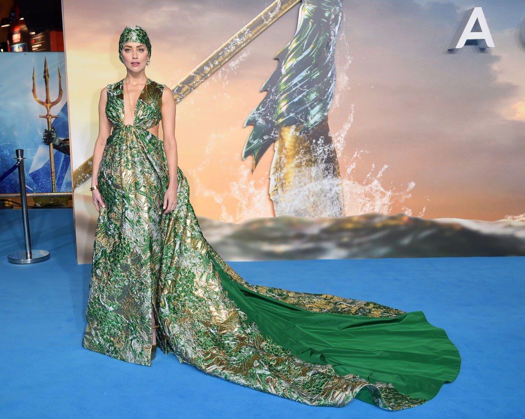 Amber Heard Keeps Her Head Above Water At The Aquaman