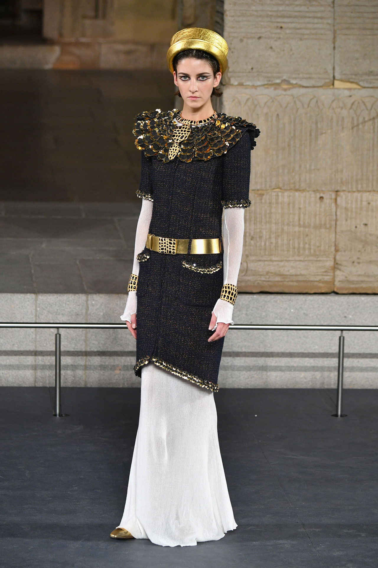7014bb063 NEW YORK, NEW YORK - DECEMBER 04: A model walks the runway at Chanel Metiers  D'Art 2018/19 Show at The Metropolitan Museum of Art on December 04, ...