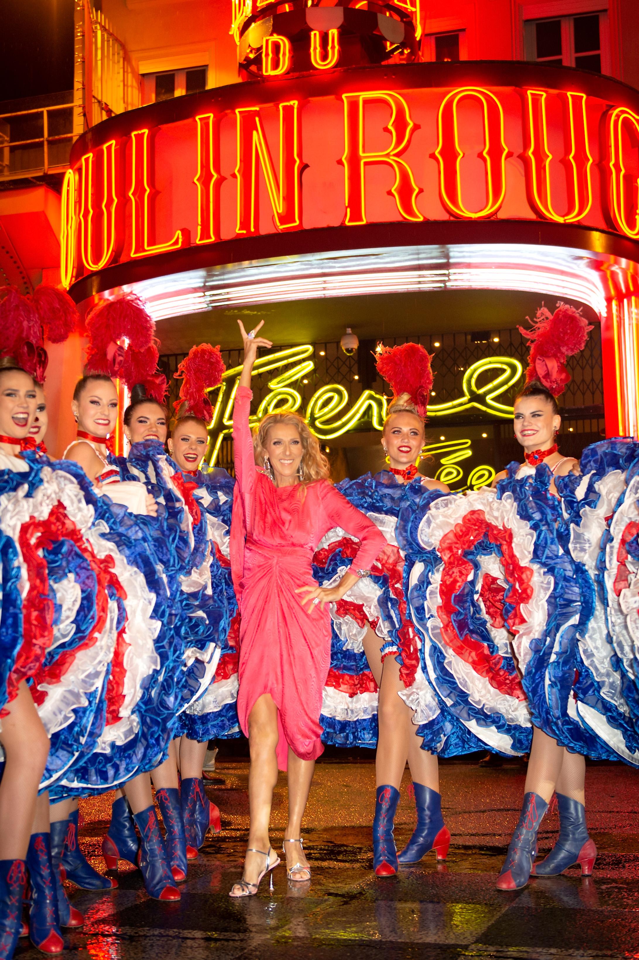 French  Advert Sign Paris Moulin Rouge Dance Concert