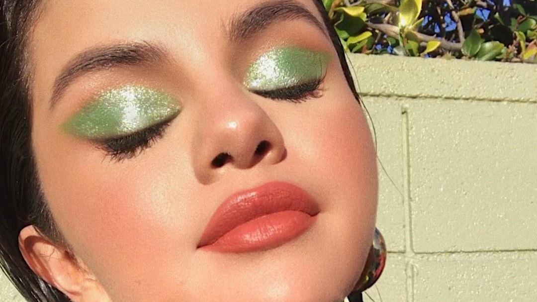 Selena Gomez's Glossy Green Eye Sets The Mood For St. Patrick's Day
