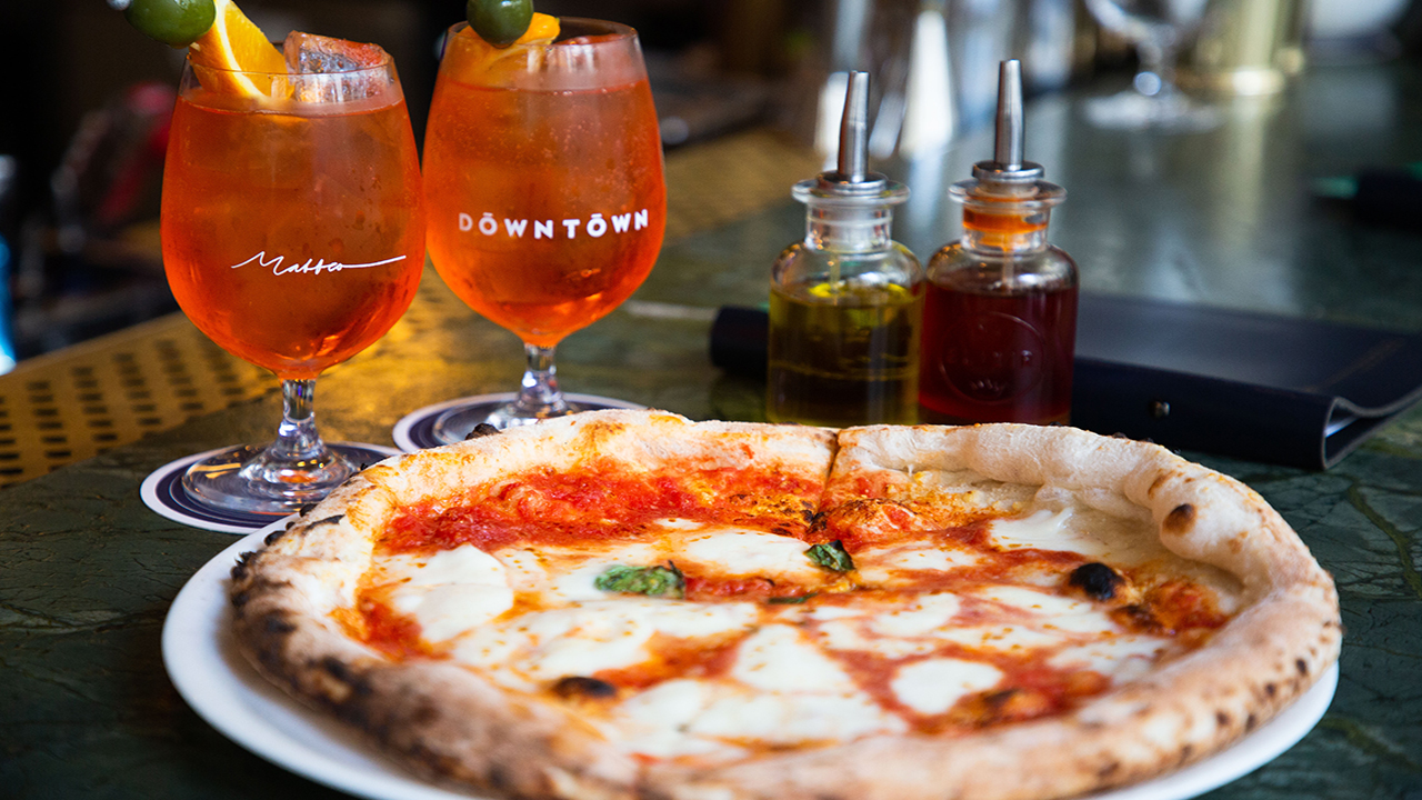 At Matteo Downtown, Aperol Spritz + Wood-Fired Pizza – Now That's Amore