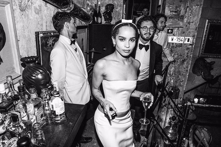 Zoe Kravitz Had A Second Wedding Dress By Alexander Wang